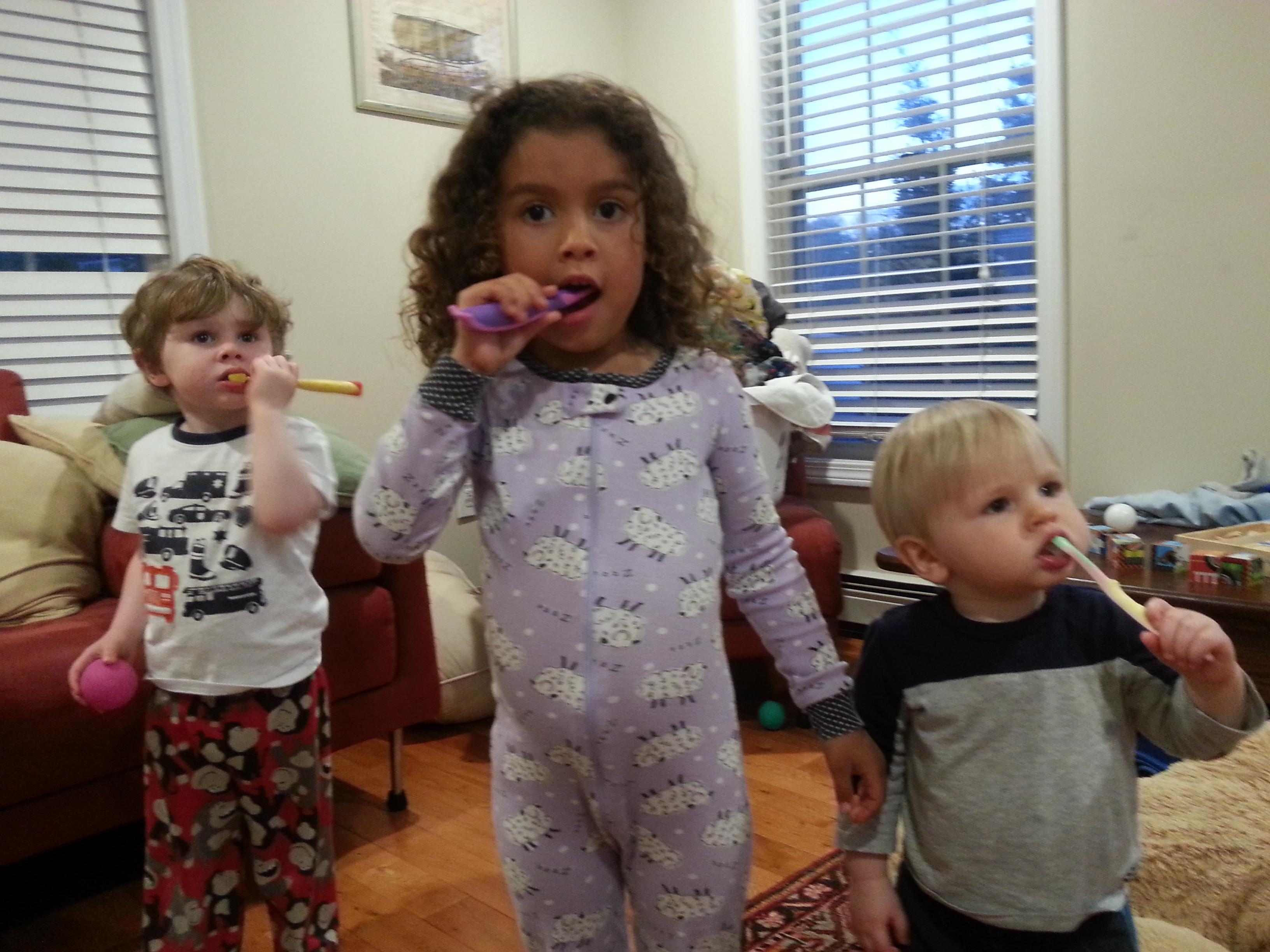 BRAIDC Kids Brushing Their Teeth